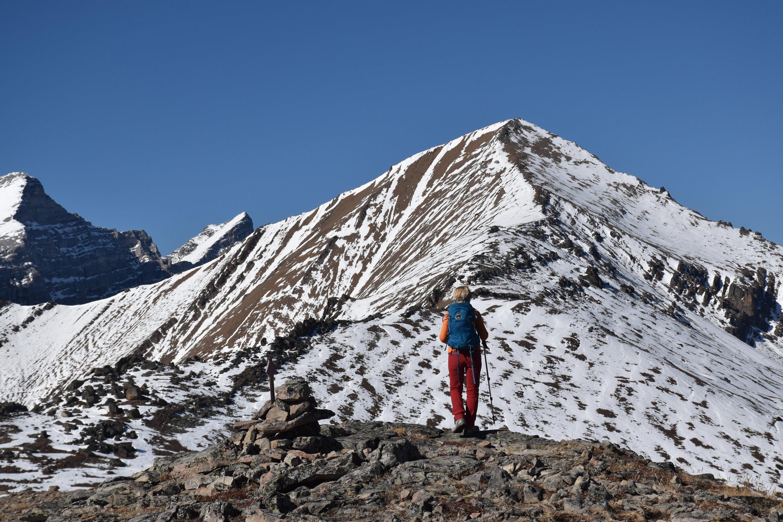 on the false peak