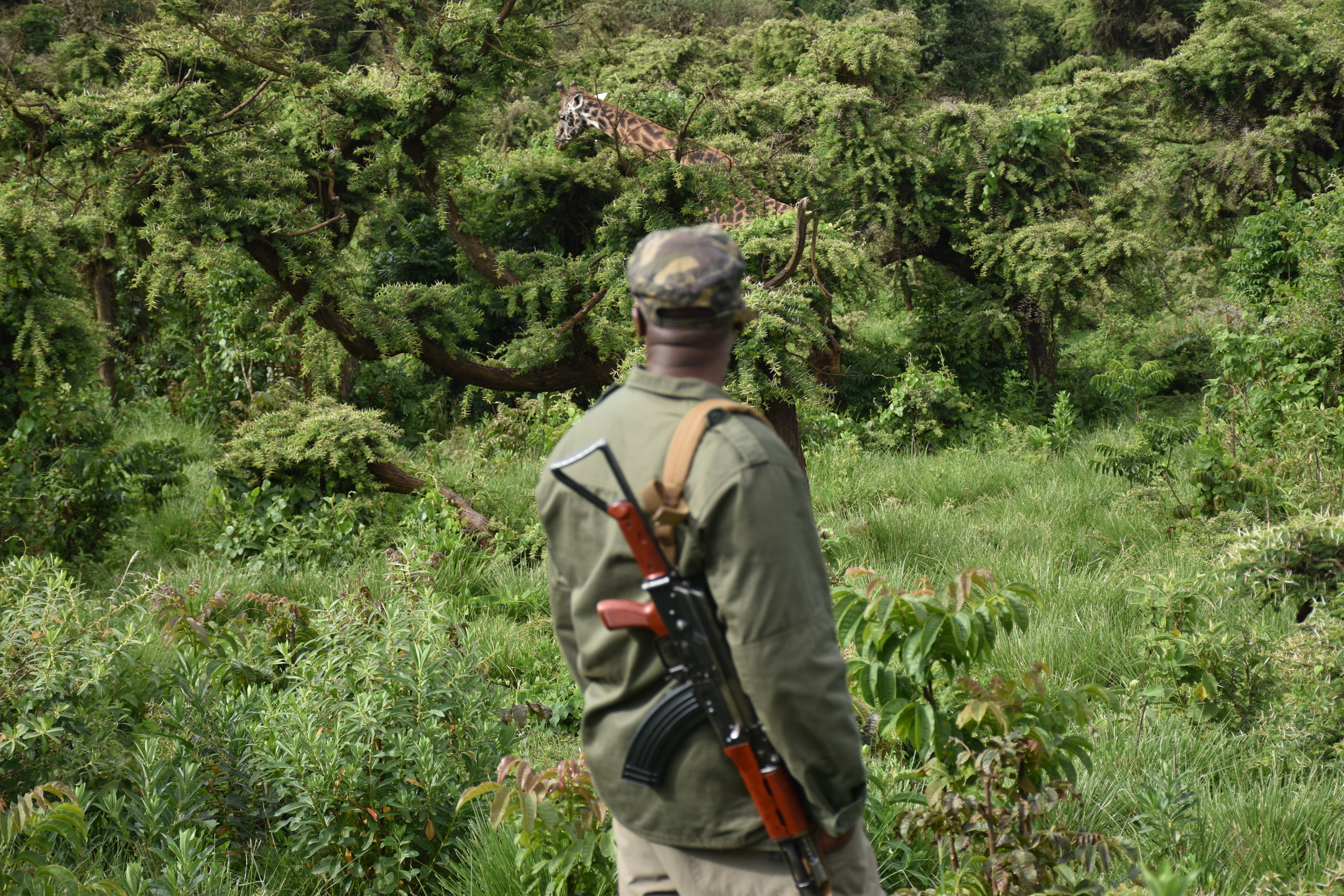 our ranger guide with a submachine gun