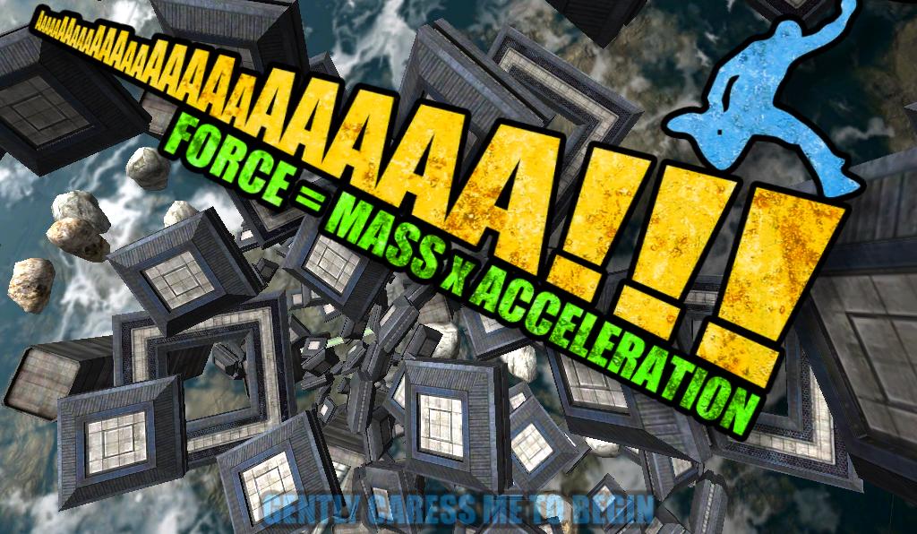 Aaaaa! Force = Mass X Acceleration
