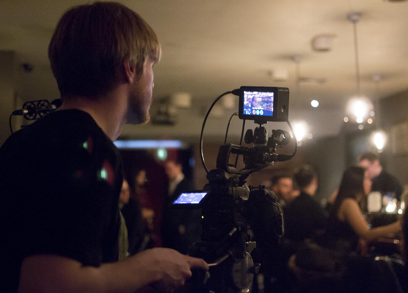 On set of Michael Wellvang's short,  Cain & Associates