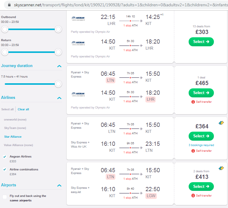 Flight Options to Kythera September 2019 SkyScanner.png