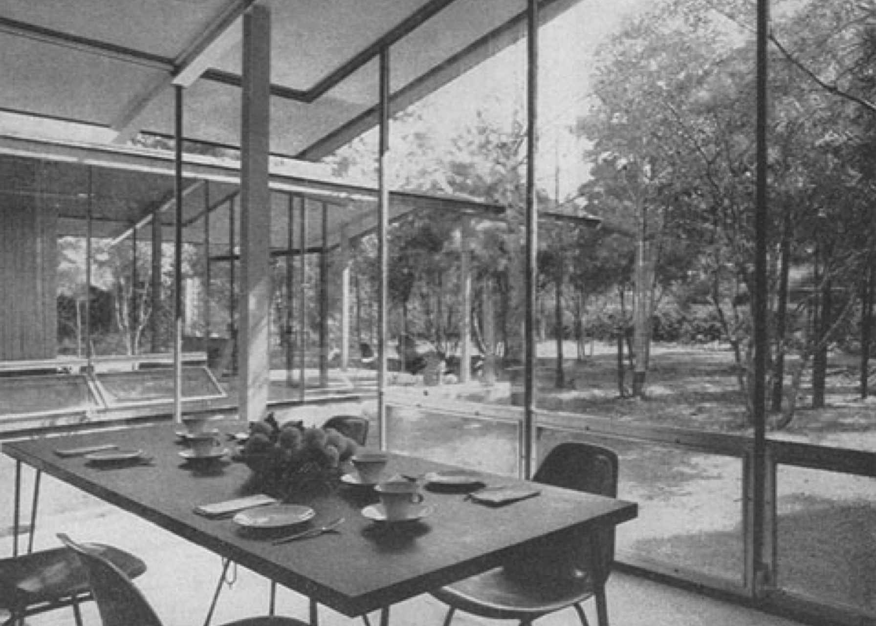 John Desmond, dining room, The Desmond Residence, 903 Greenlawn,John Desmond Papers, Louisiana and Lower Mississippi Valley Collections, LSU Libraries.