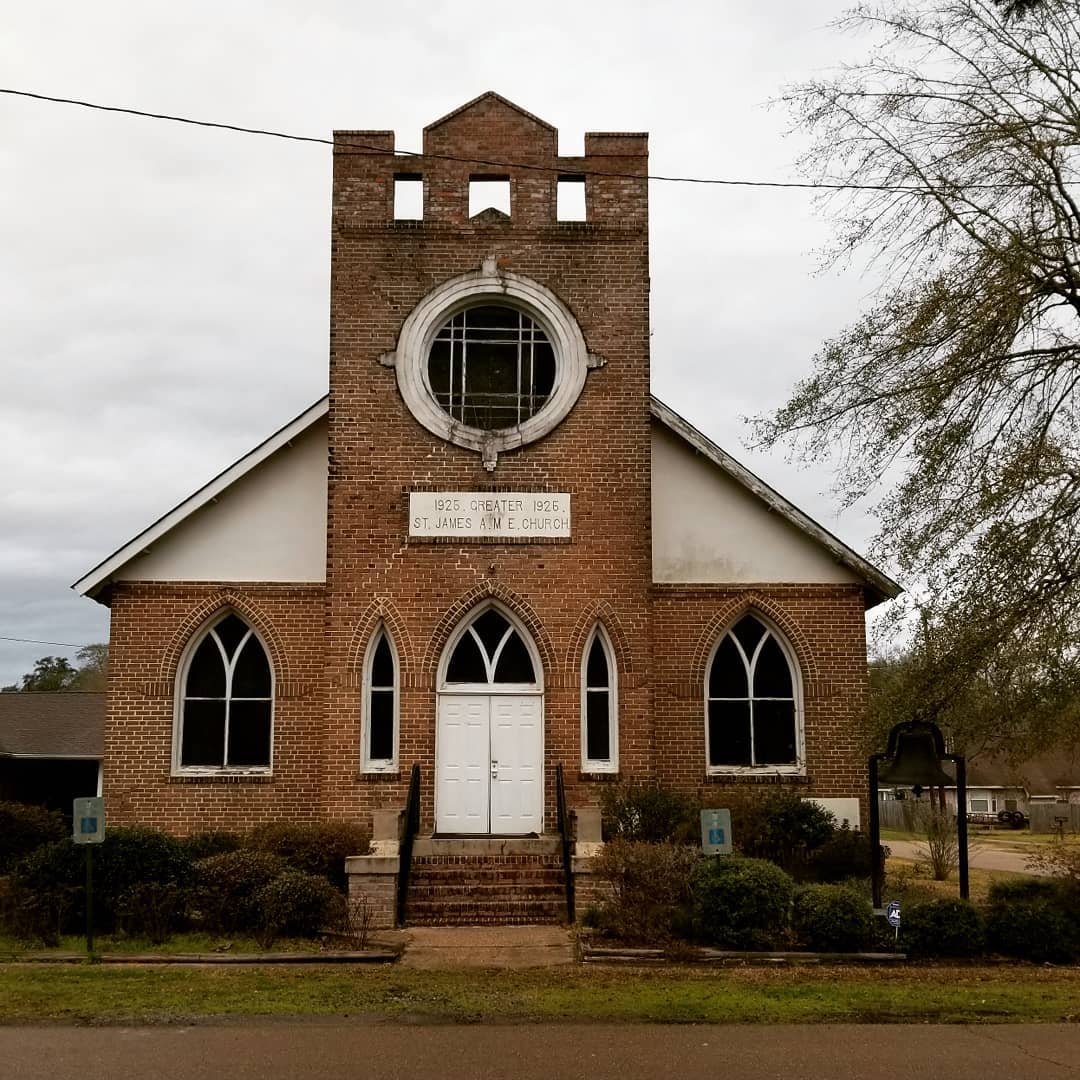 Submitted by:  Hammond Historic District    Location:  Hammond, Louisiana   Greater St. James AME Church, Historic Churches