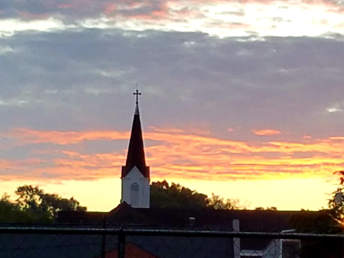 Submitted by:  Sammy Trombatore   Location:  Hammond, Louisiana   Sunrise over Holy Ghost.