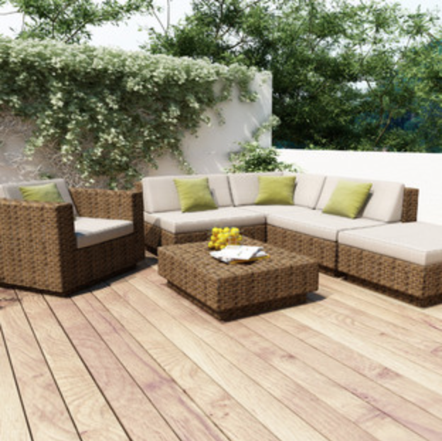 Deck with colorful outdoor pillows for Hopewell Junction, NY homeowners