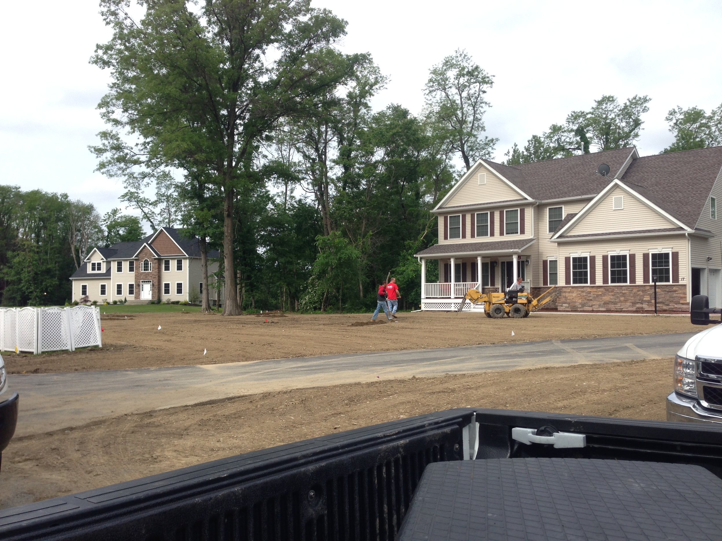 New Lawn, Irrigation System, and Grading in the Hudson Valley, NY