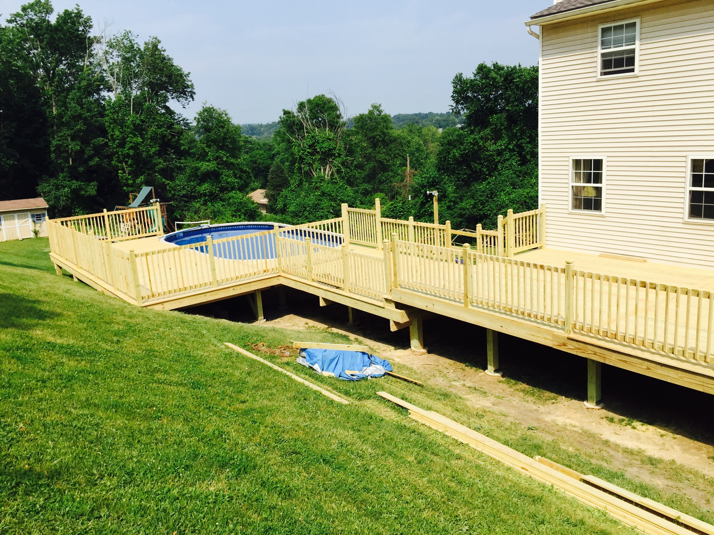 Swimming pool deck in the Fishkill, NY