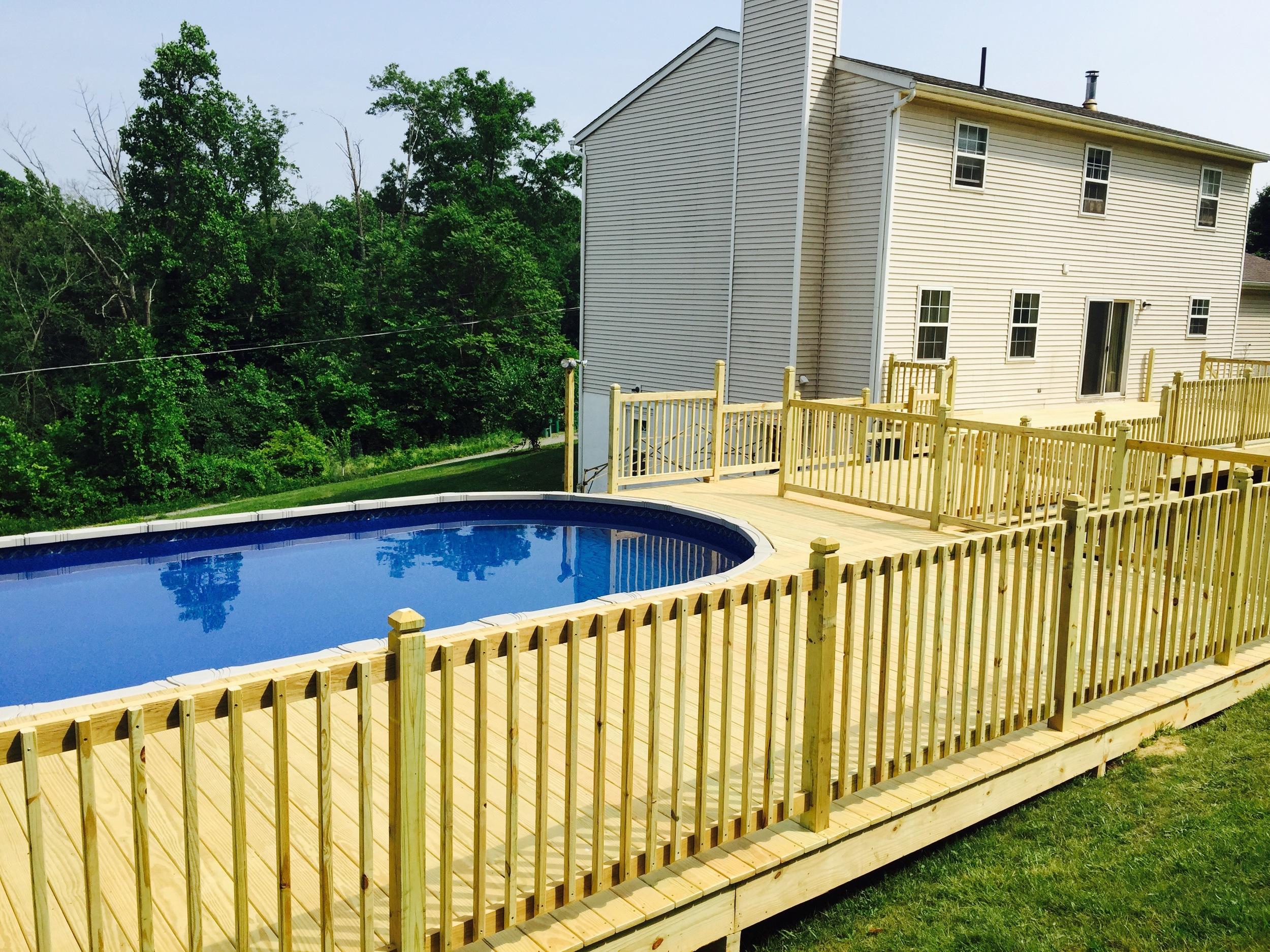 swimming pool deck in fishkill, NY