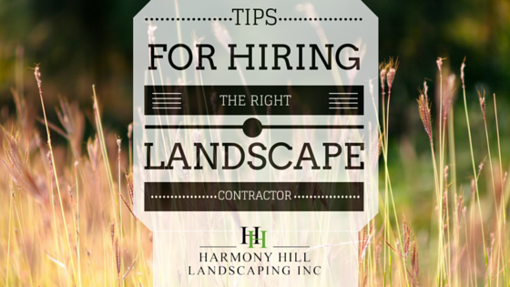 tips for hiring the right landscape contractor in Hopewell Junction, NY