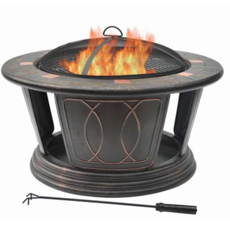 Fire pits bring your backyard ideas to life, as well as your family!- Photo courtesy of Home Depot
