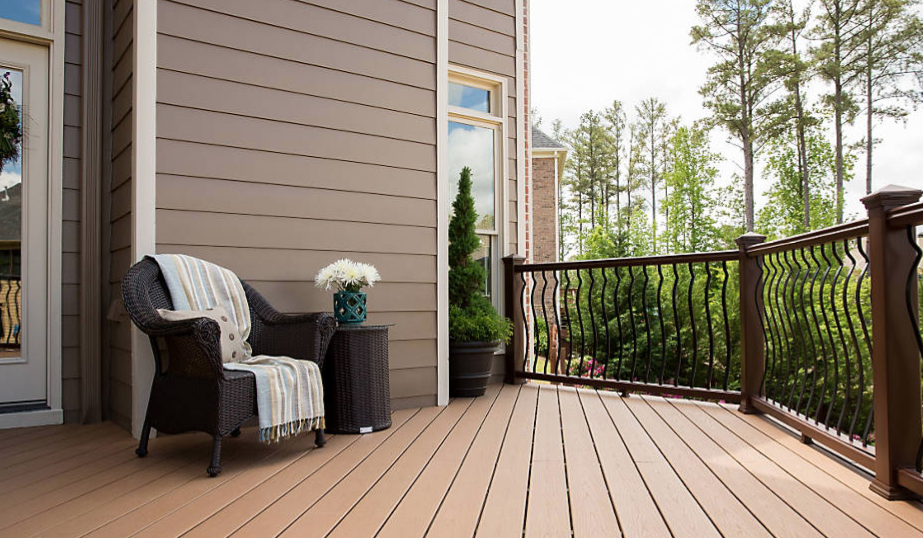 Trex decking materials are a popular choice for Hudson Valley landscape designs. Photo Trex.com