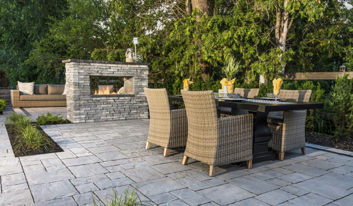 Creating the Perfect Patio in the Hudson Valley, NY.   Photo Courtesy of Unilock