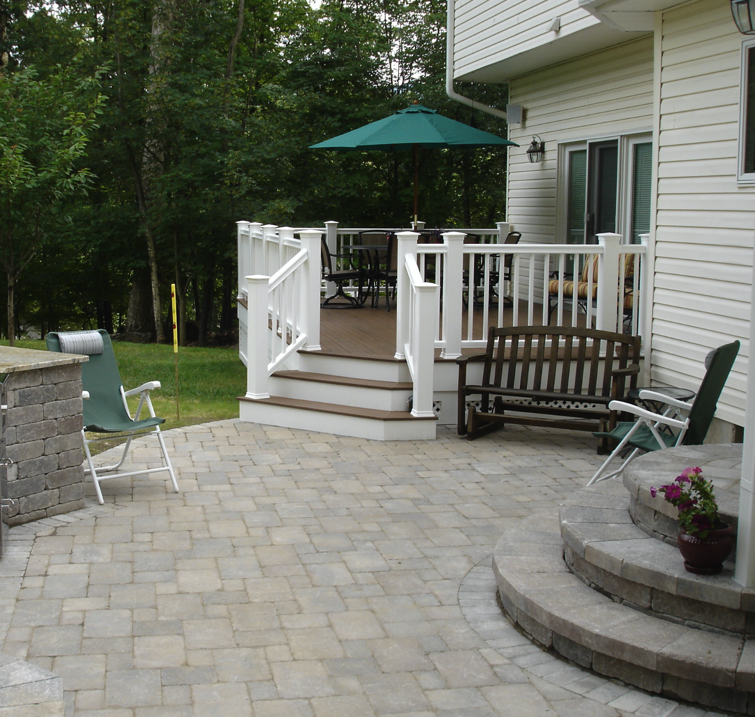 Custom Trex Deck project by Harmony Hill Landscaping