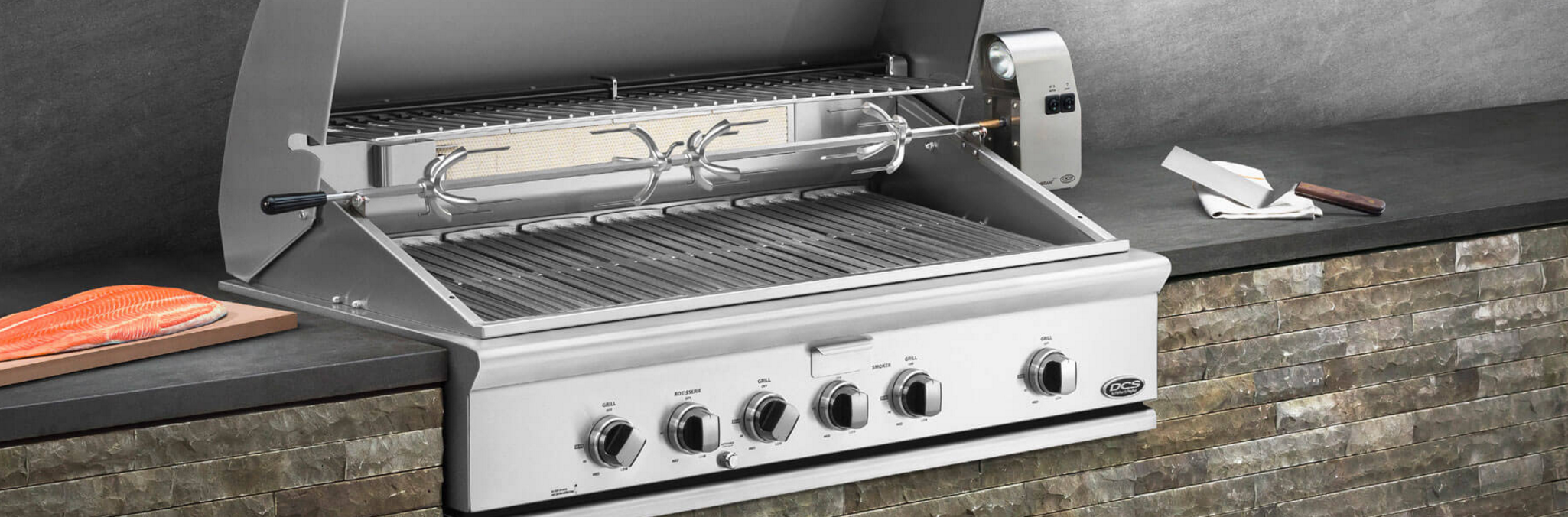 DCS Grills offers professional grade outdoor kitchen components for Hudson Valley homeowners serious about outdoor cooking. Photo: DCS Grills