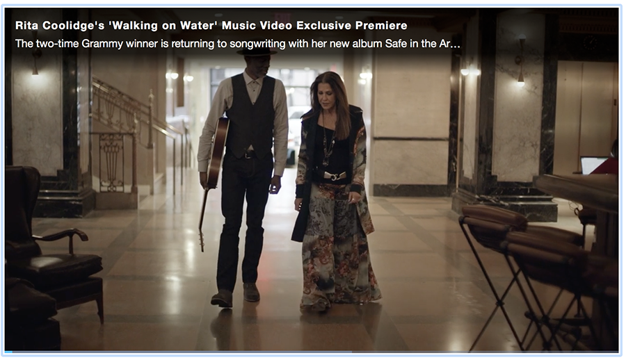 "the world premiere of Rita's music video of ""Walking on Water"" featuring Keb Mo from her upcoming record ""Safe in the Arms of Time"" due out May 4th - Exclusive release on People.com(Match 9, 2018)"