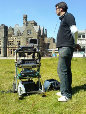 Mixing  Mister Lonely  on location in Scotland