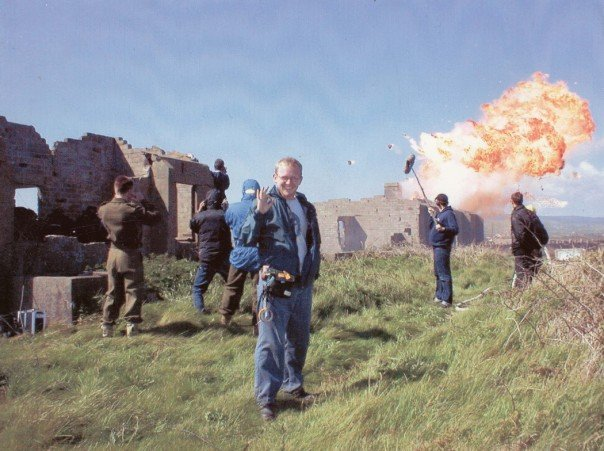 Booming an explosive scene in  Churchill , with Sound Utility, Woody Gregson giving the okay
