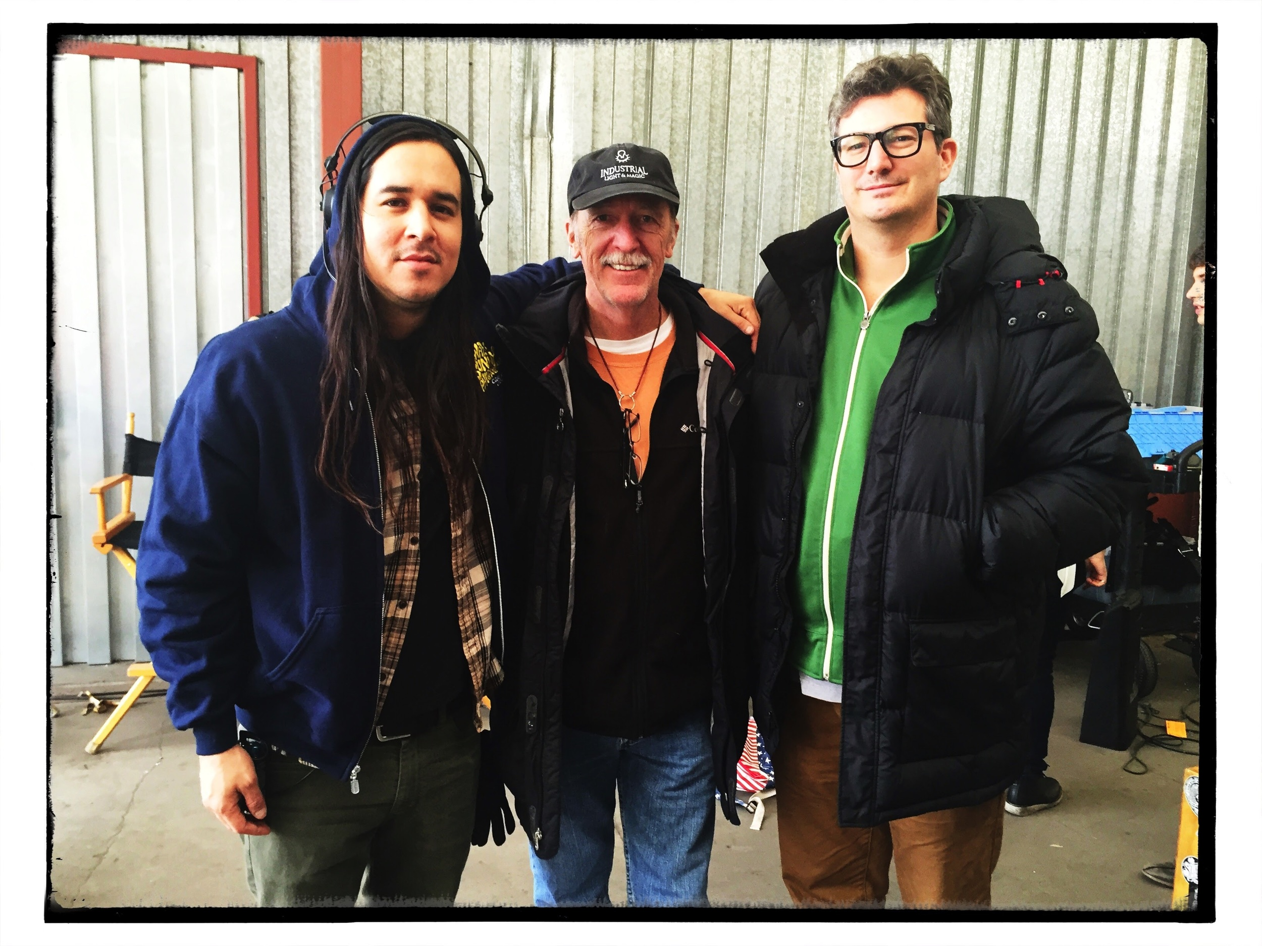 With Daniel Quintana and Randy Johnson, on the set of  The Fosters
