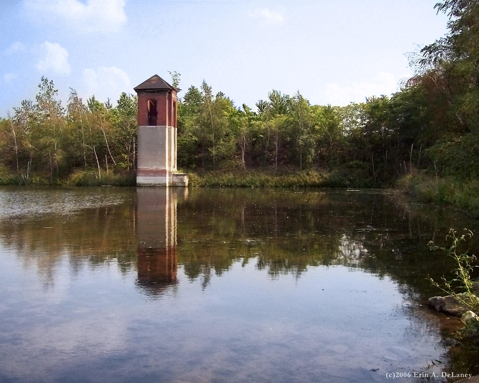 JC Reservoir Screenhouse Reflections, 2013