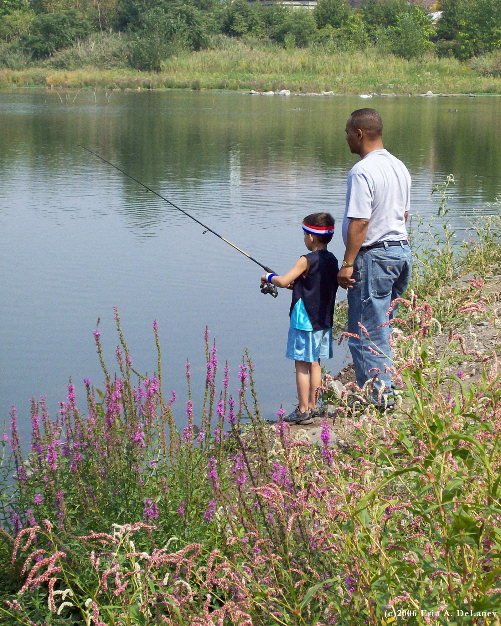 Father and Son Fishing JC Reservior, 2006