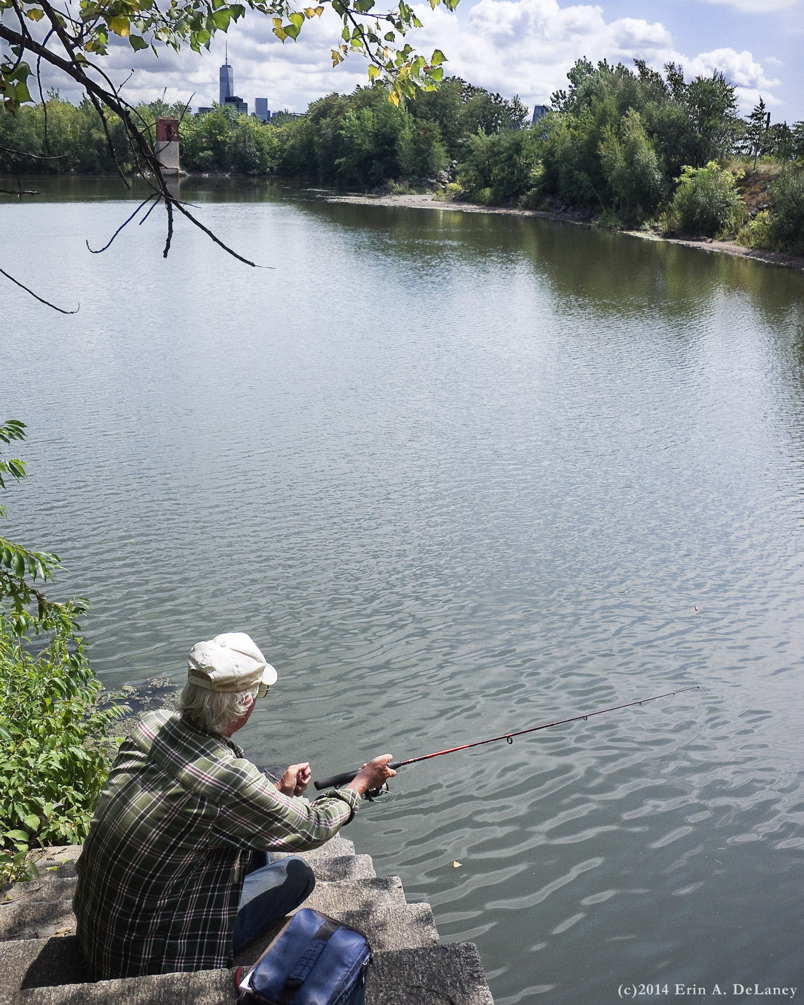 Fishing from the Gatehouse Steps, 2014
