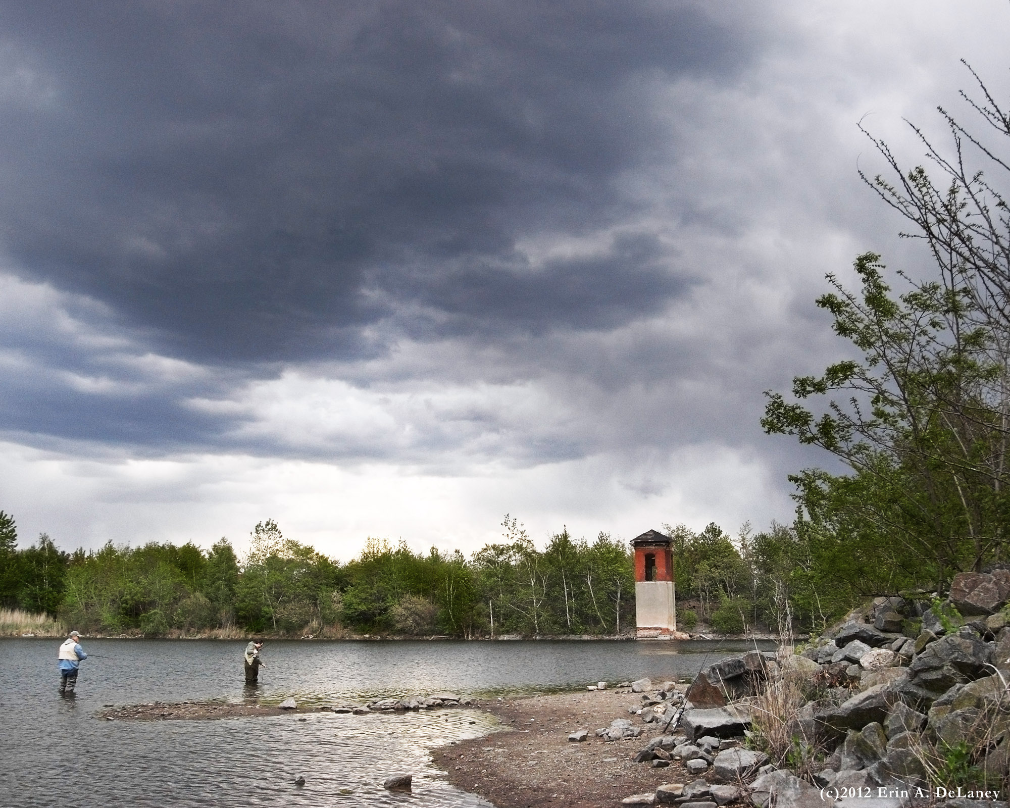 Fishing on a Stormy Day in the JC Reservoir, 2012