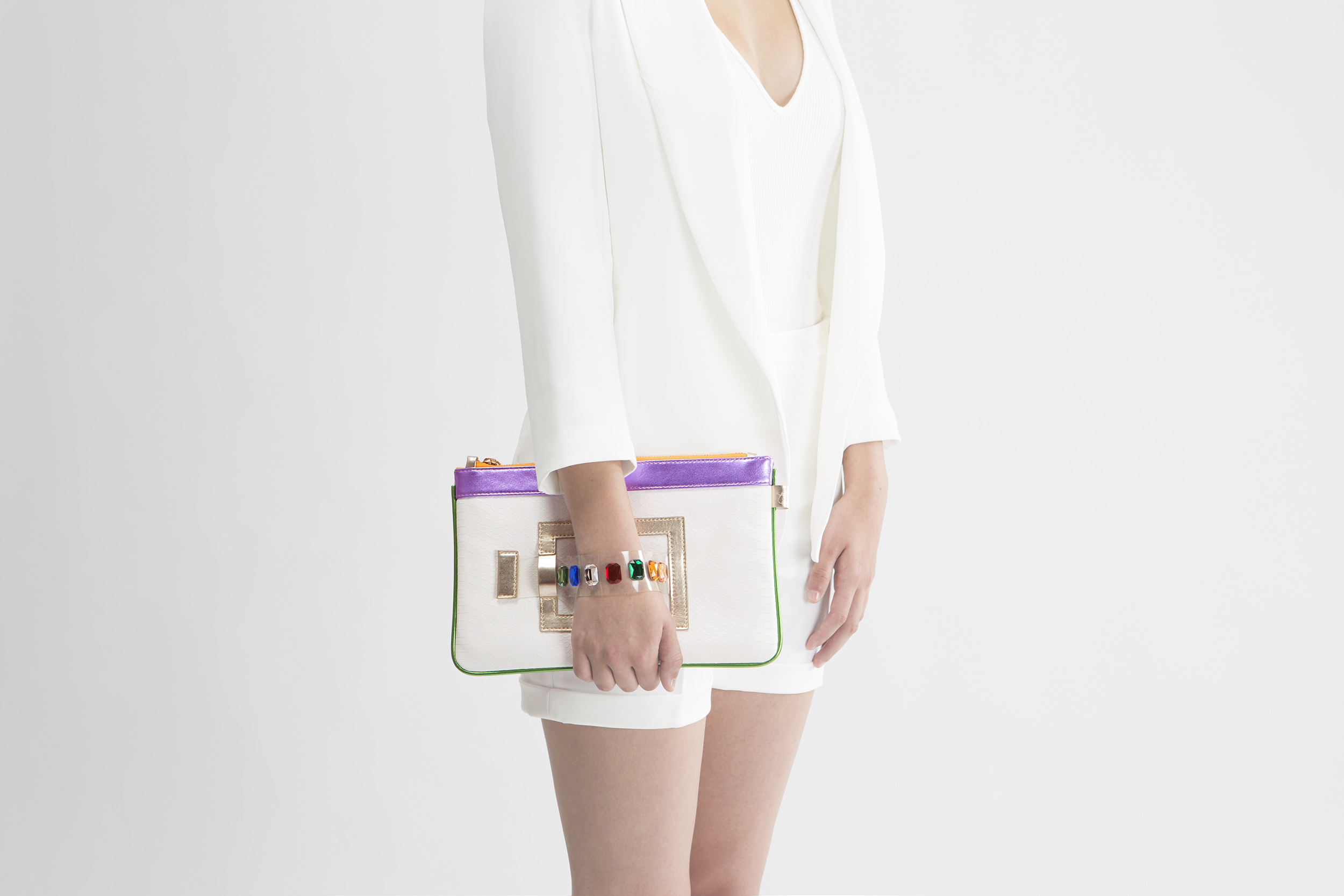 FruitenVeg-GEMINI bag-never-leather-faux-embossed-croco-eco-vegan-luxury-mini-Ipad-handbag-white-purple