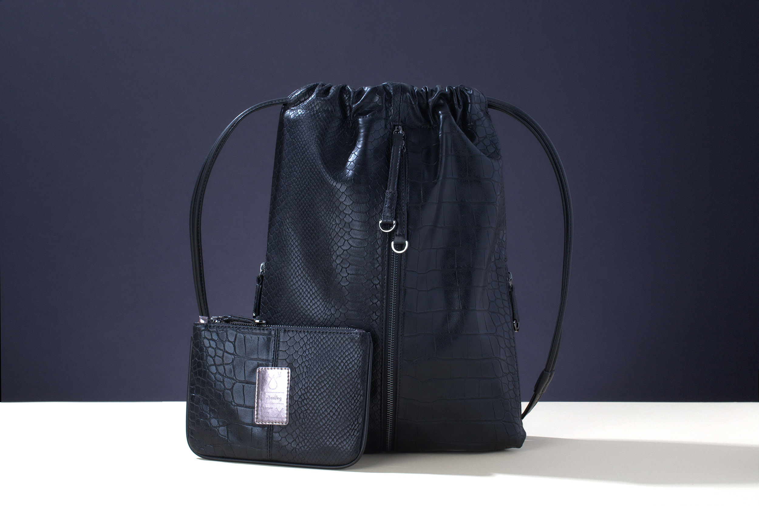 FruitenVeg-MISHI bag-never-leather-eco-cruelty-free-luxury-black-medium-handbag-nyc
