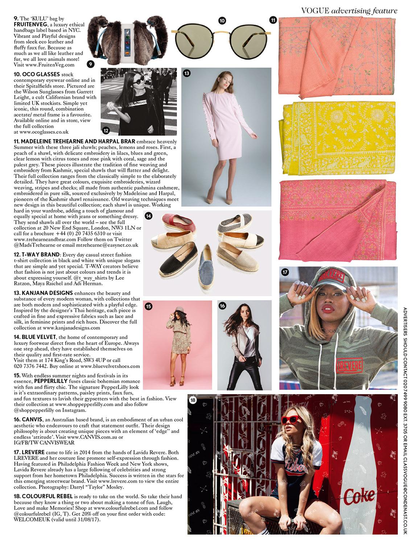 FruitenVeg KULU faux fur satchel in British Vogue_June_17