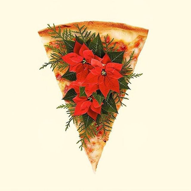 Merry Christmas and a happy new year y'all❤️❄️ #veganpizza via @paulfuentes_design by @fuentes_studio #merrychristmas #christmaspizza #happyholidays #happynewyear #neverleather @fruitenveg