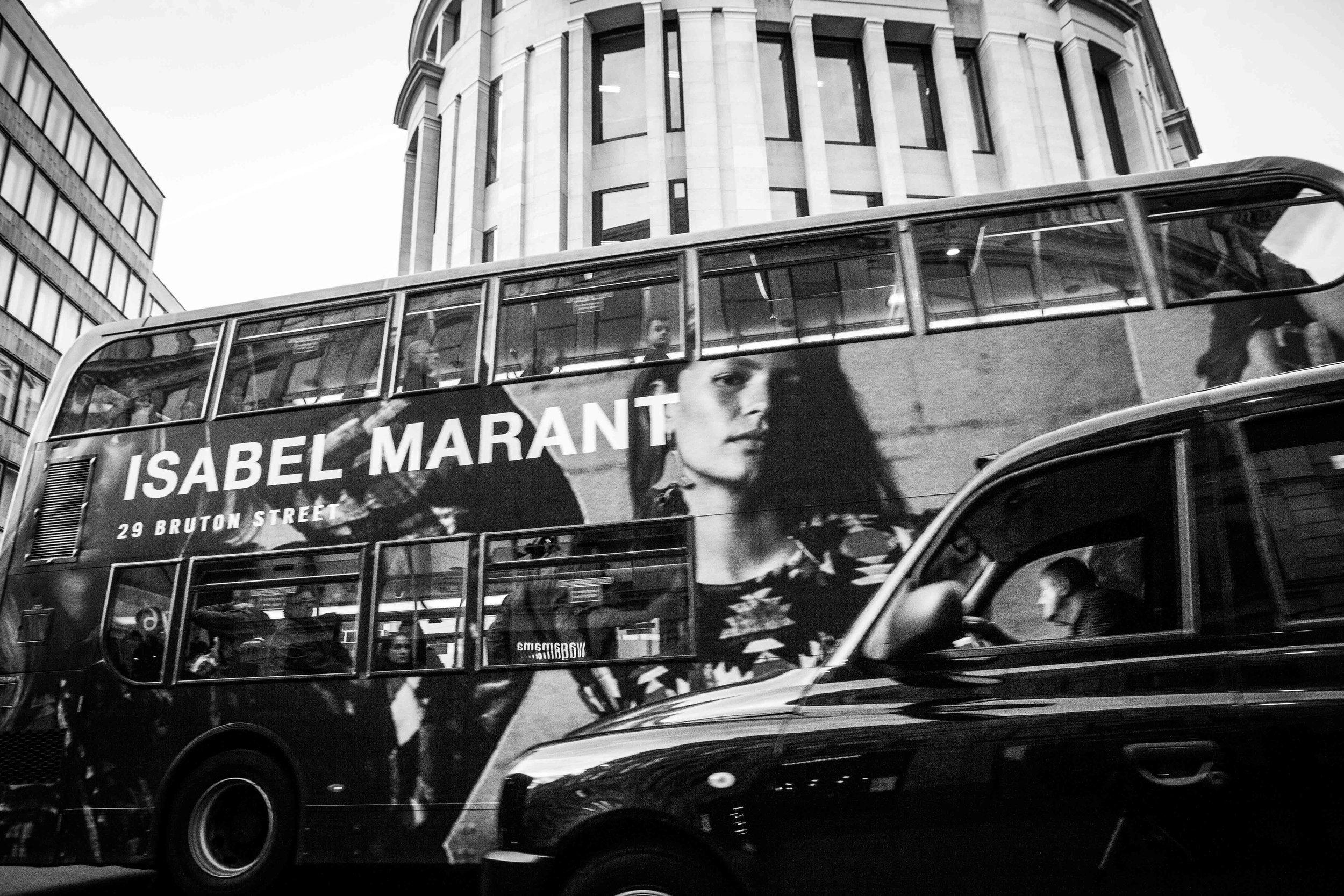 London Buses Campaign for Isabel Marant