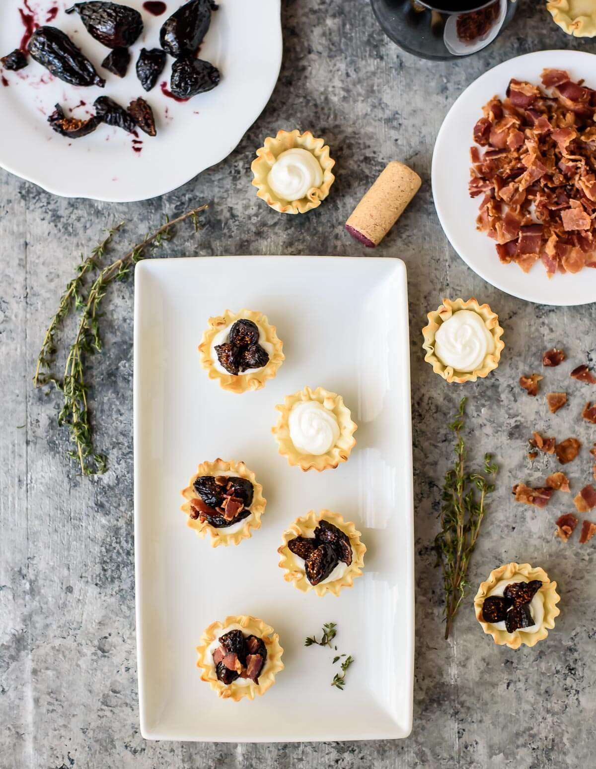 Get the full recipe here:  Well Plated's mini phyllo tarts