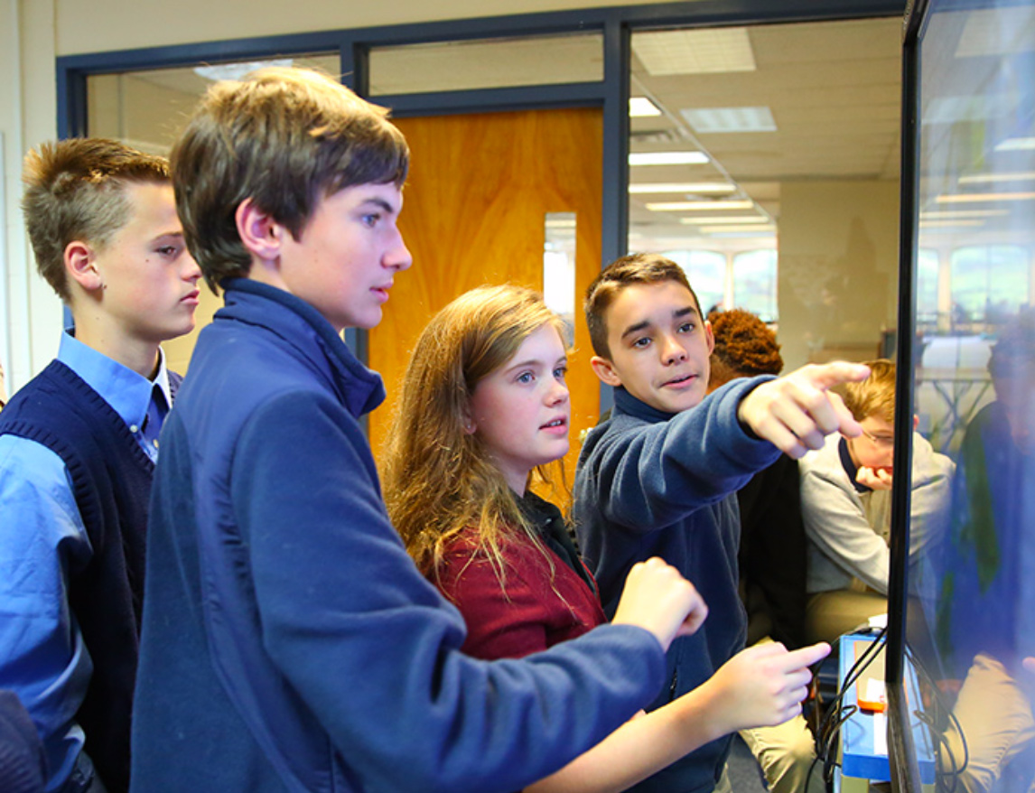 The 8th Grade Advantage - For our 8th graders, the transition to their formal secondary school studies begins now. And why not now? Our 8th-grade program offers true high school courses - and begins a valuable conversation about college planning.