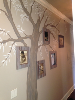 family tree mural - kings' chapel parade of homes 2014