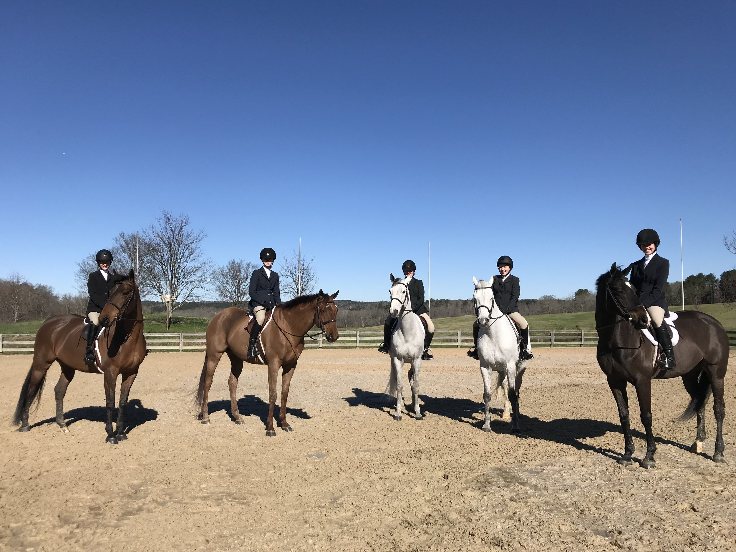 All five Pre-Children's riders brought their A-game and gained some learning experiences!