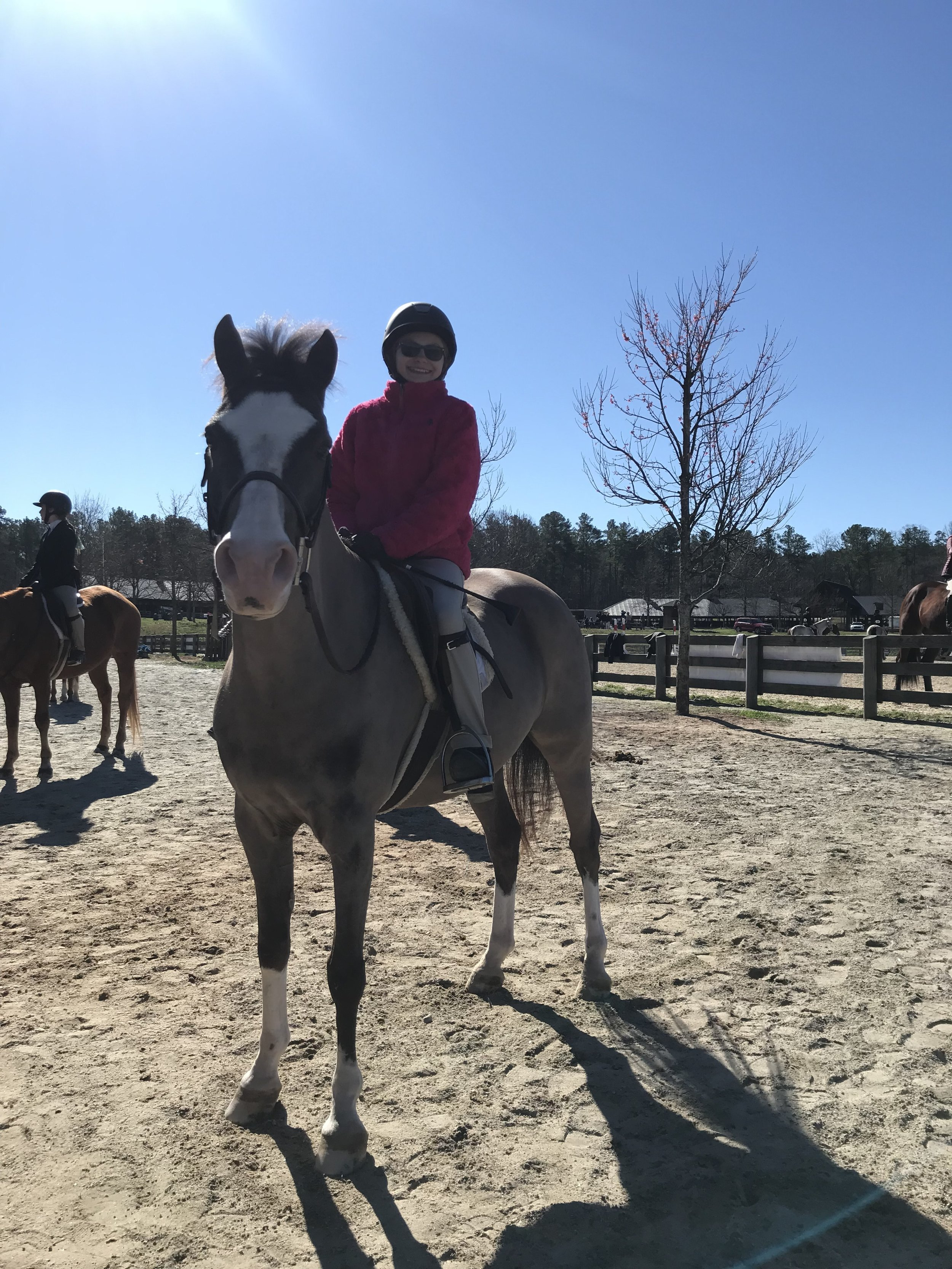 Sarah Carson and Stormy braving the cold to put down some great trips!