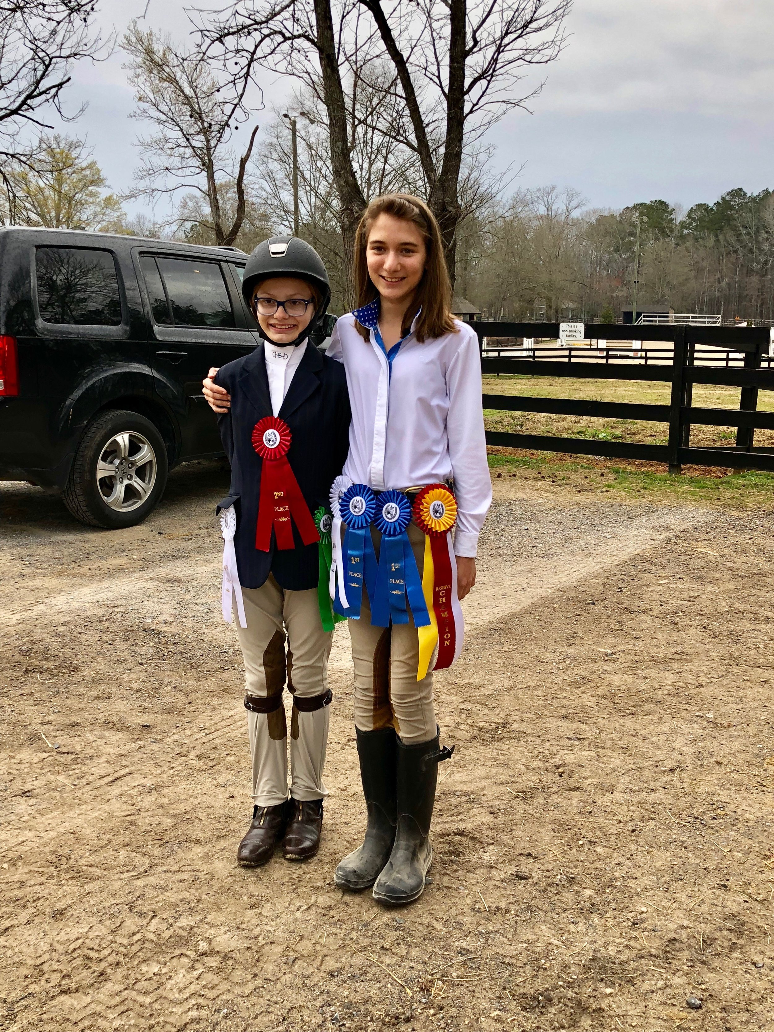 Sarah Carson and Julia cleaned up in the Children's Pony divisions!