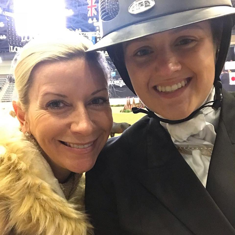 Allison and Abby prepped and ready for the Maclay at the National Horse Show!