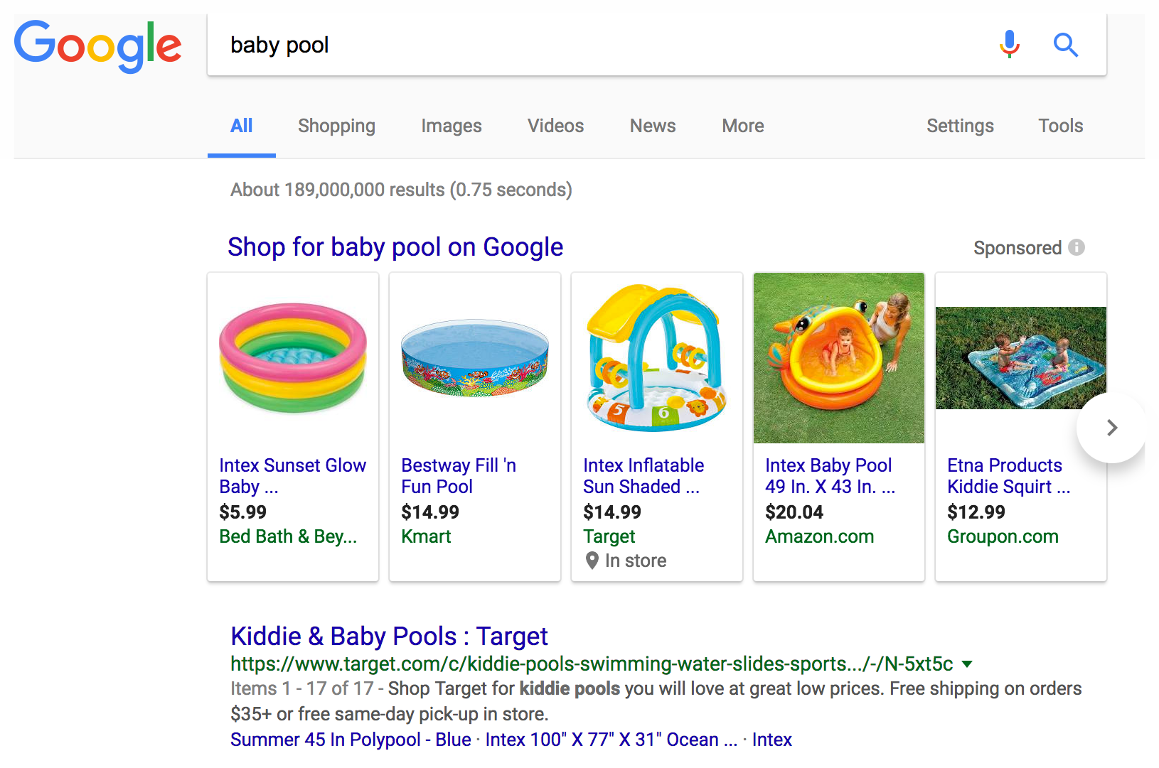 search for baby pool
