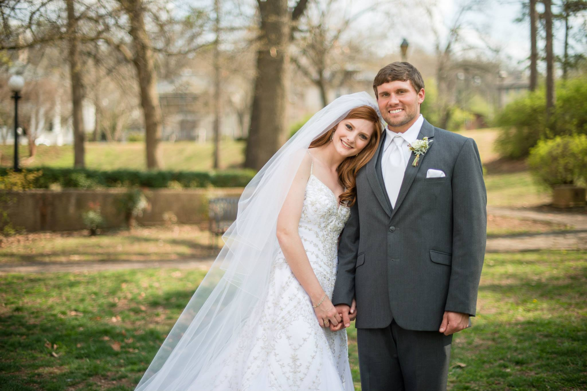 John & Autumn Gunnels on their wedding day March 22, 2014 | image by Rachel Roll Coffey Photography