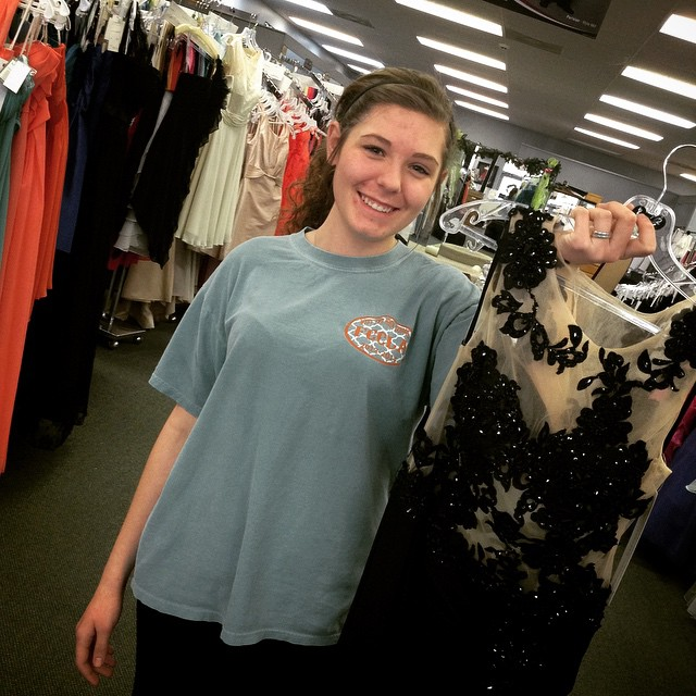 Another happy customer is going home with her prom dress!! @clv98 #WeddingsPageantsProms #prom #prom2k15 #promperfect