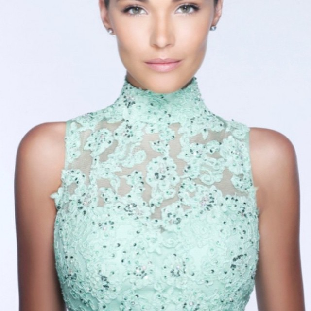 High neck lines are the biggest trend for #prom2k15 #WeddingsPageantsProms #prom