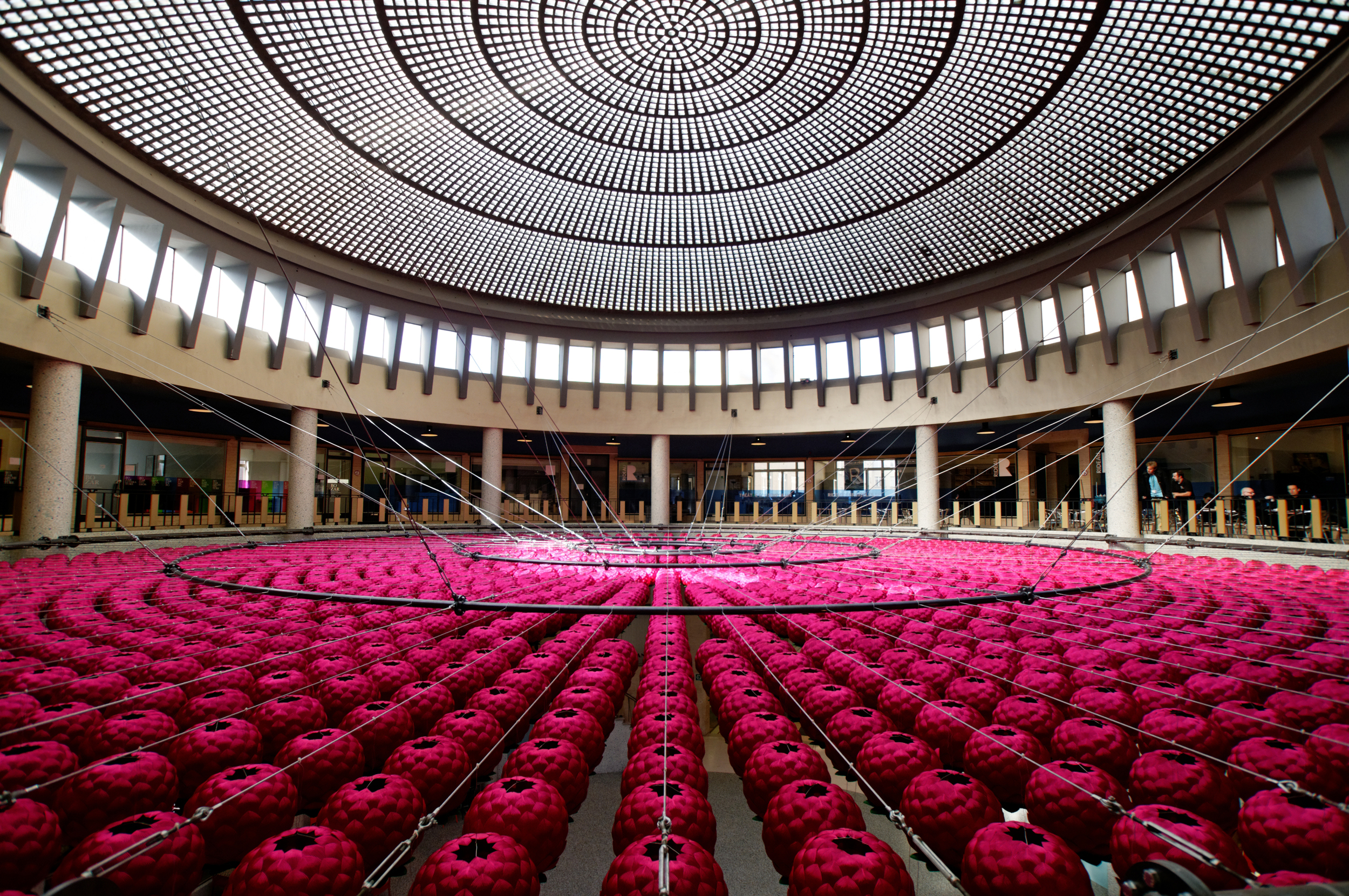 "Kimsooja, ""Lotus: Zone of Zero"", Installation in the Rotunda at Galerie Ravenstein, Brussels, 2008. Image courtesy Dijon Consortium."