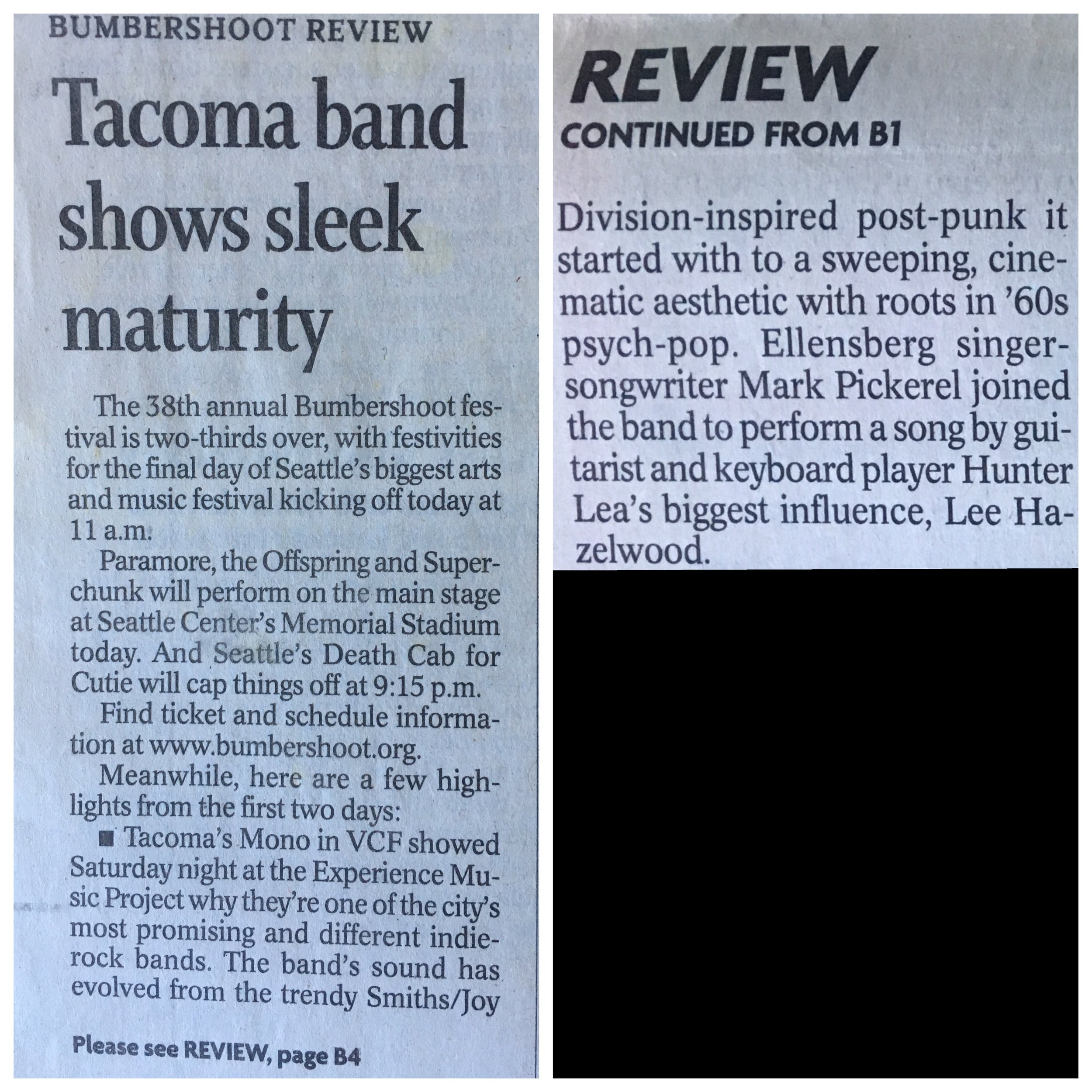 Tacoma News Tribune  Sep. 1, 2008