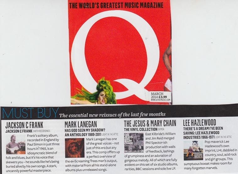 Lee Hazlewood There's A Dream I've Been Saving: Lee Hazlewood Industries,  Q Magazine , Mar. 2014