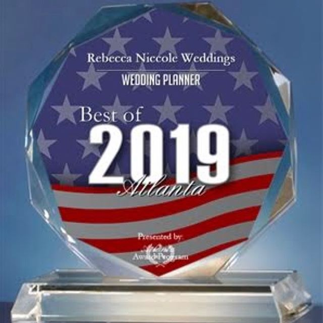 ATTENTION 🎉 Check our our press release of our newest award from Best of Atlanta 👇🏼 .  Rebecca Niccole Weddings Receives 2019 Best of Atlanta Award  Atlanta Award Program Honors the Achievement  ATLANTA September 28, 2019 -- Rebecca Niccole Weddings has been selected for the 2019 Best of Atlanta Award in the Wedding Planner category by the Atlanta Award Program.  Each year, the Atlanta Award Program identifies companies that we believe have achieved exceptional marketing success in their local community and business category. These are local companies that enhance the positive image of small business through service to their customers and our community. These exceptional companies help make the Atlanta area a great place to live, work and play.  Various sources of information were gathered and analyzed to choose the winners in each category. The 2019 Atlanta Award Program focuses on quality, not quantity. Winners are determined based on the information gathered both internally by the Atlanta Award Program and data provided by third parties.  About Atlanta Award Program  The Atlanta Award Program is an annual awards program honoring the achievements and accomplishments of local businesses throughout the Atlanta area. Recognition is given to those companies that have shown the ability to use their best practices and implemented programs to generate competitive advantages and long-term value.  The Atlanta Award Program was established to recognize the best of local businesses in our community. Our organization works exclusively with local business owners, trade groups, professional associations and other business advertising and marketing groups. Our mission is to recognize the small business community's contributions to the U.S. economy. . We are so excited and honored to receive this award 💕