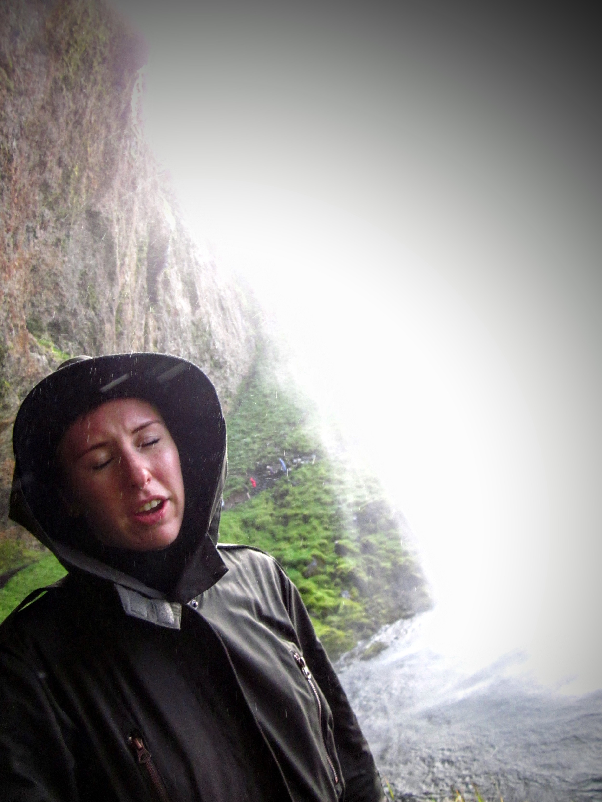 The waterfalls of iceland are one of the natural wonders of the world. They're beautiful. Let's just assume I was so overwhelmed by the majesty that I couldn't control the muscles of my face.