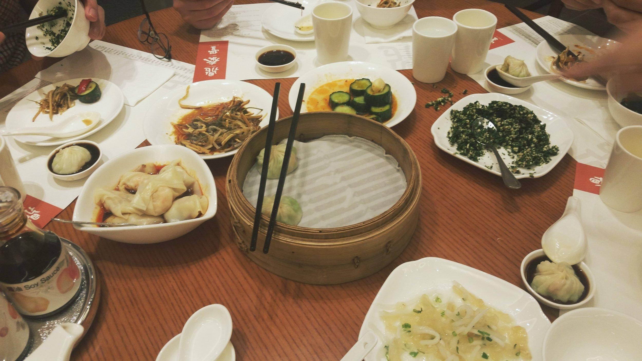Taiwanese style dim sum. The pork and truffle dumplings were aaaaaaamazing.