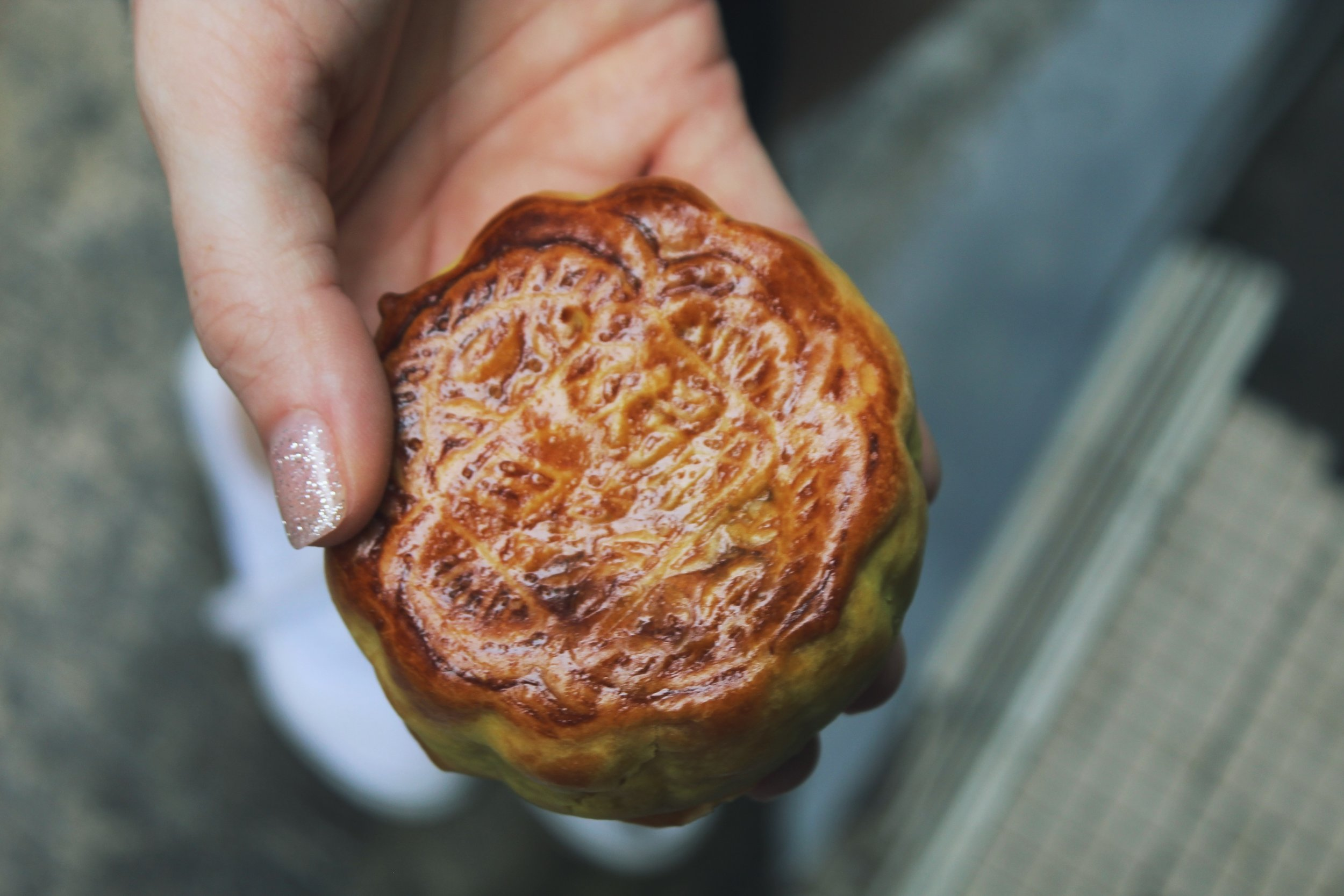 One of the famous Mid-Autumn Fest mooncakes. We got this one in Tai O.