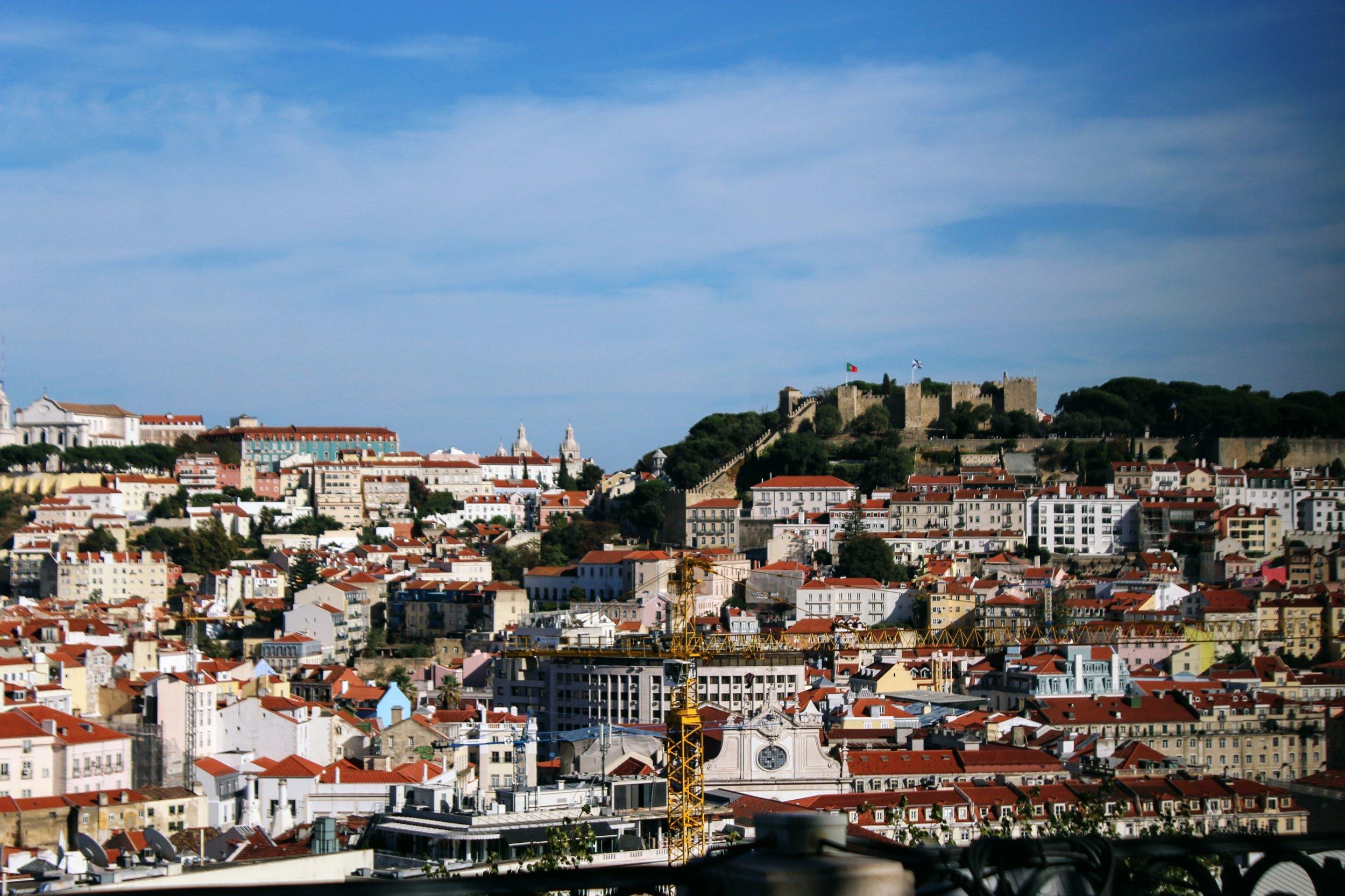 A gorgeous view of Lisbon.